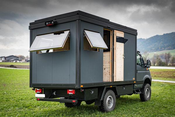 Weltreisemobil Zirbenbox Iveco Daily 4x4