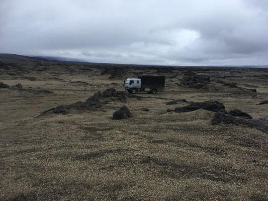 Expeditionsfahrzeug Zirbenbox in Island