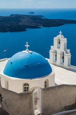 Eglise au Dôme bleu (Santorin)
