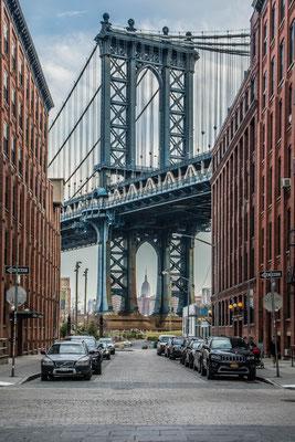 Manhattan Bridge + Empire State Building