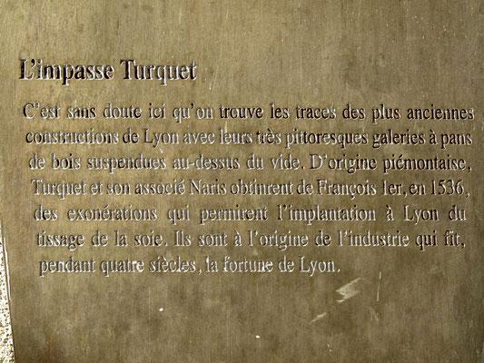 impasse Turquet Lyon 5ème