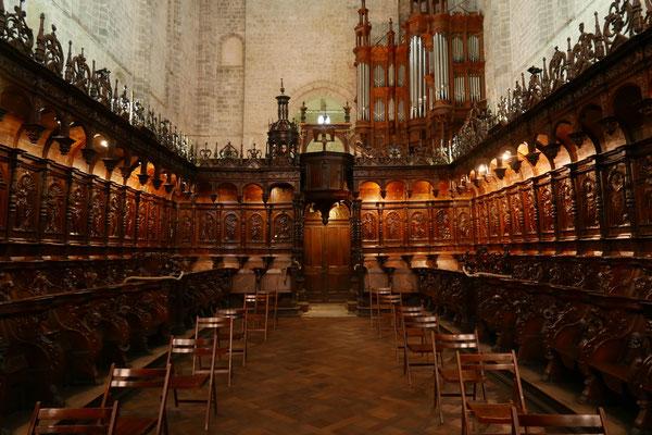 La cathédrale : les stalles du XVIe siècle