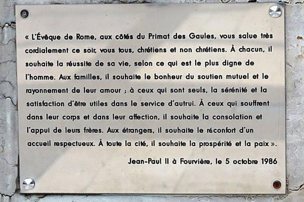 parvis de Fourvière Lyon 5ème
