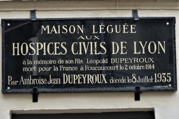 impase Léopold Dupeyroux Lyon 4ème