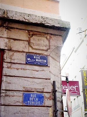 rue Major-Martin (ancienne rue de Tunisie, ancienne rue Luizerne) Lyon 1er