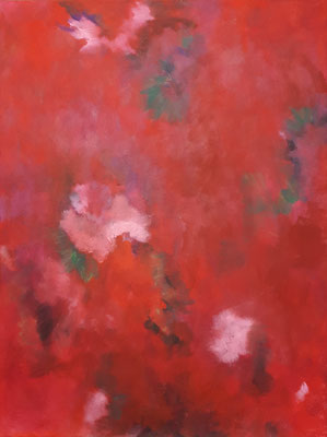 """Rhododendron"" - Acryl auf Leinwand - 60 x 80 - 2016"