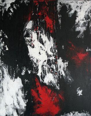 """""""Rot trifft ... N° II"""" - Acryl auf Leinwand - 80 x 100 - 2013"""