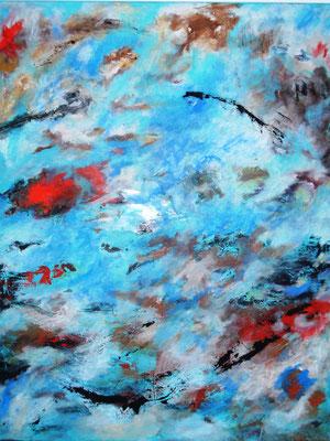 """Frühling"" - Acryl auf Leinwand - 80 x 100 - 2018"