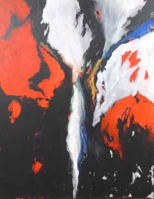 """Einschnitt"" - Acryl auf Leinwand - 80 x 100 -  2013"