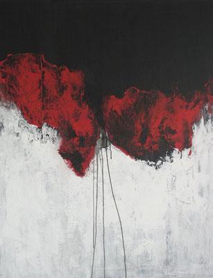 """""""Rot trifft ... N° I"""" - Acryl auf Leinwand - 80 x 100 - 2013"""