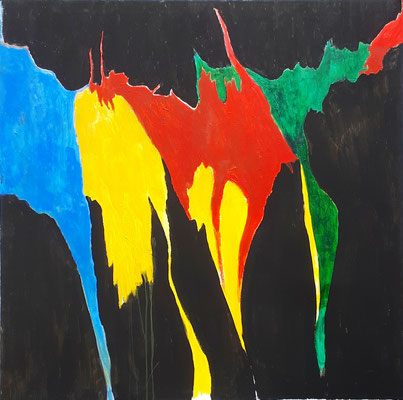 """Verflossen"" - Acryl auf Leinwand - 100 x 100 - 2019"
