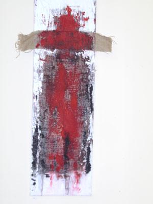"""Glaube"" - Acryl auf Leinwand, Rupfen - 30 x 100 - 2011"