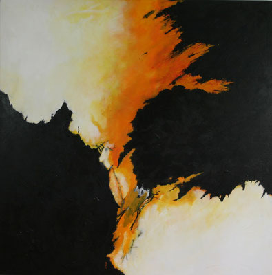 """Eruption"" - Acryl auf Leinwand - 100 x 100 - 2006"