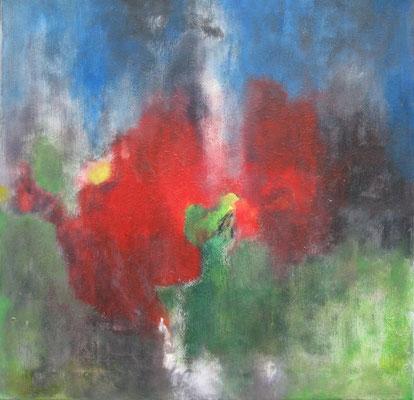 """Brennendes Land"" - Acryl auf Leinwand - 60 x 60 - 2007"