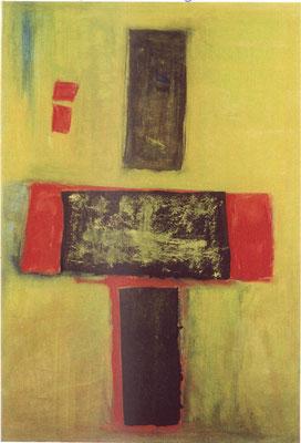 """""""Kreuz"""" - Acryl auf Leinwand - 70 x 100 - 1998/2009"""