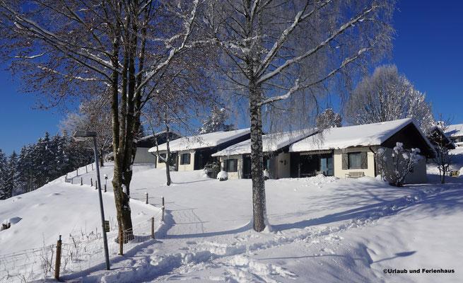 Feriendorf Lechbruk im Winter