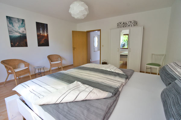 Schlafzimmer Ferienwohnung naehe Freiburg
