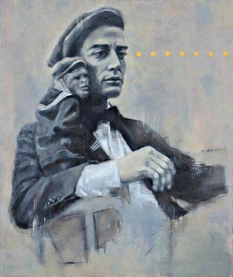 BUSTER & BUDDY -  acrylique et huile sur toile -33x42 cm