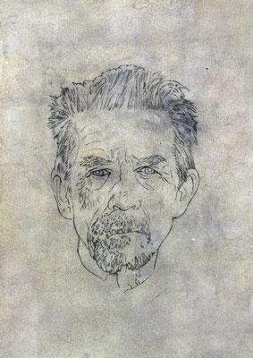 JOHN HURT- graphite et médium sur papier - 30x42 cm