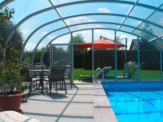 S&K GmbH Jacuzzi Whirlpool - Pool mit Überdachung im Garten