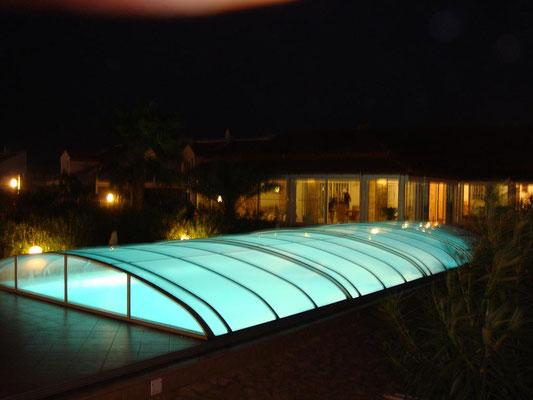 S&K GmbH Jacuzzi Whirlpool - Pool mit Beleuchtung und Überdachung