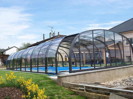 S&K GmbH Jacuzzi Whirlpool - Poolüberdachung mit Eingangstür