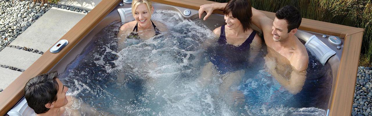 S&K GmbH Jacuzzi Whirlpool - Entspannt mit Freunden im Jacuzzi