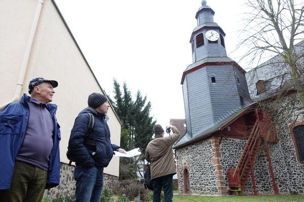 Matthias Möbs wusste viel über die wechselvolle Geschichte der Dorfkirche