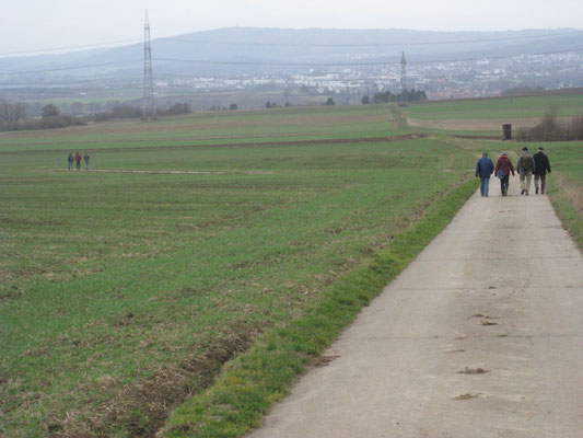 Die Feldflur zwischen Münzenberg und Rockenberg ist wetterautypisch sehr ausgeräumt.