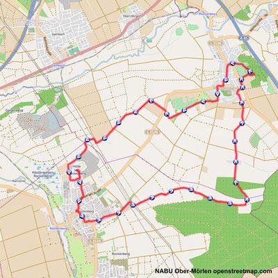 Die Wanderstrecke ist 14 km lang. Ein Start in Rockenberg mit Einkehr in Münzenberg ist auch möglich.
