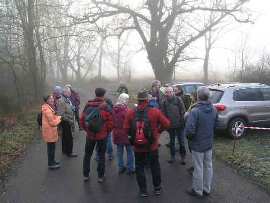 Die Teilnehmer sammeln sich am Startpunkt....