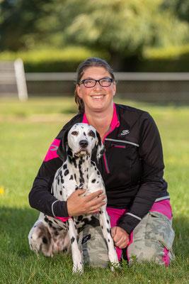 Ida Indiana vom Furlbach beim Aggi Training mit Frauchen 13.10.2019