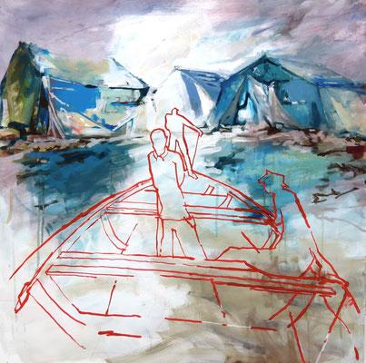Zu neuen Ufern - 2014 - 100 x 100 cm
