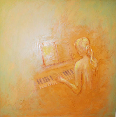 Music was my first love - 2011 - 100x100cm