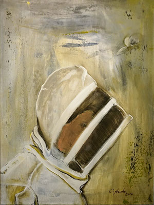 Well guarded... at the beekeeping, 60x80cm, 2017