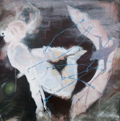 Flugangsttherapiehund - 2014 - 80 x 80 cm