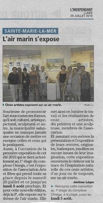 Bernard Legros expose avec d'autres artistes peintre du Languedoc Roussillon