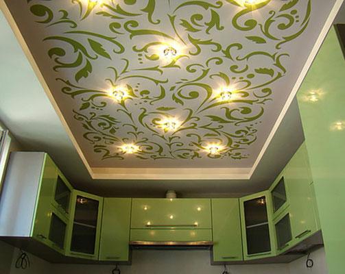 Натяжные потолки с фотопечатью купить в Москве