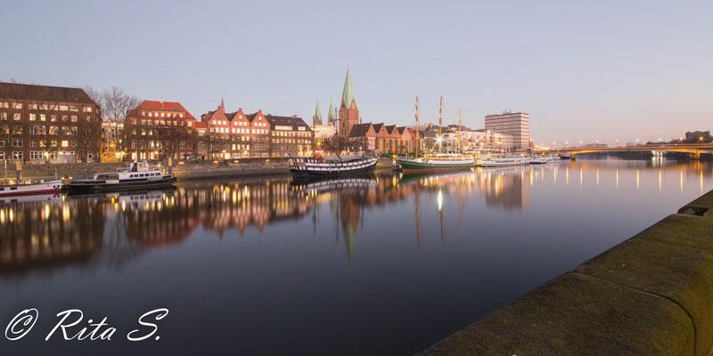 an der Weser, vom Teerhof aus