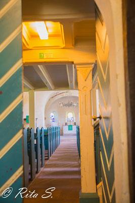 der erste Blick in das Kirchenschiff..