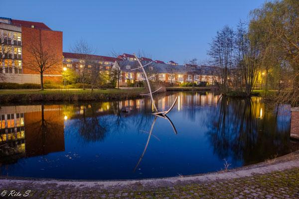 In Bremen-Findorff zur Blauen Stunde