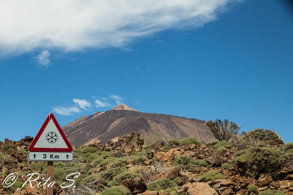Vorsicht, Glätte am Teide