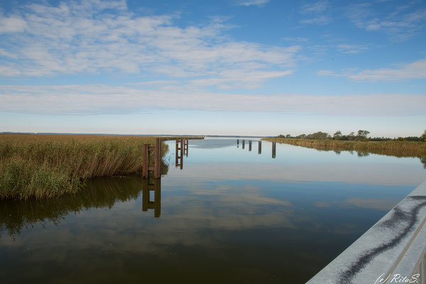 An der Meininger-Brücke, der Zufahrt zum Darss