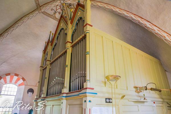 Die Orgel in ganzer Tiefe.