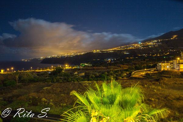 Bei Nacht Blick nach La Orotava