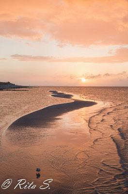 Bei ablandigem Wind, wenn die Sandbänke freiliegen