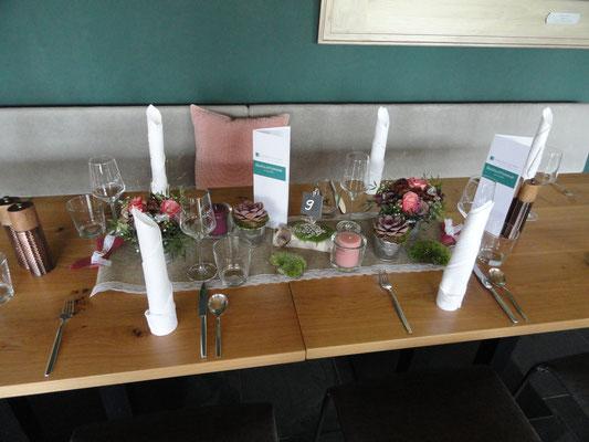 Kerzen natürlich farblich passend und wie immer bei mir. Kerzen nur im Glas