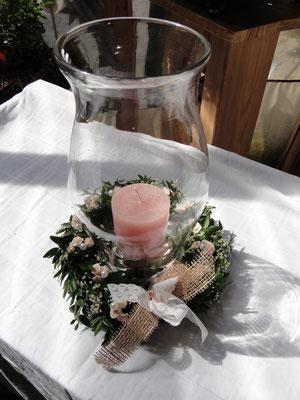 Buchskranzerl für Hochzeitskerze