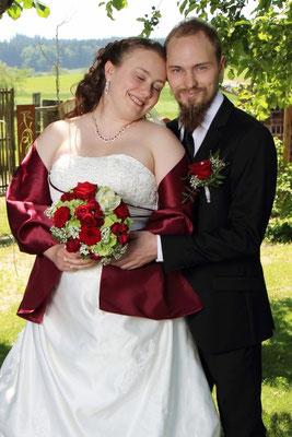 """Hochzeitsstrauß mit der wunderschönen Rose """" Red Naomi"""""""