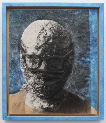"""""""Aluman""""  Lindenholz, Acryl, Fototechnik   46,5 cm x 40 cm"""